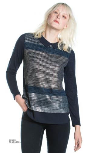 Kalisson-Blue-Marine-T-Shirt-Double-Piece-Shirt-Effect