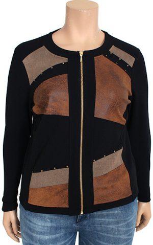 Bagoraz designer vest imitation leather asymmetric inserts
