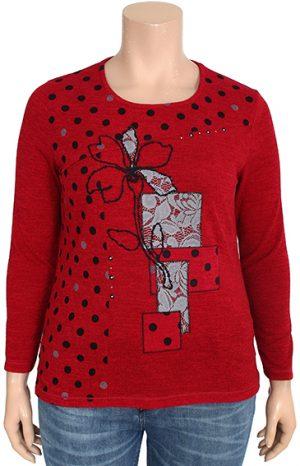 Bagoraz red designer t-shirt inserts printed dots