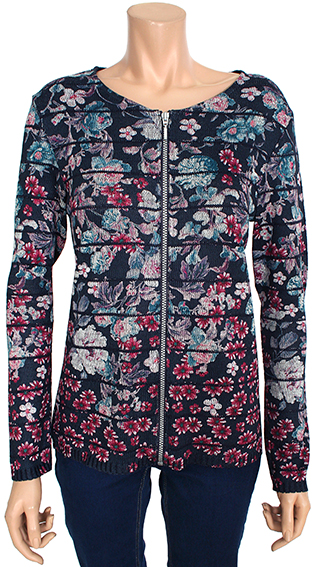 Kalisson jacket round neck zipped sublimed rosemary