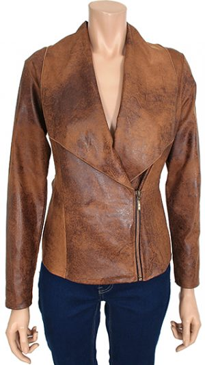 Kalisson designer camel jacket imitation leather