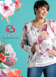 plus size women wearing a t-shirt and a jacket from Bagoraz