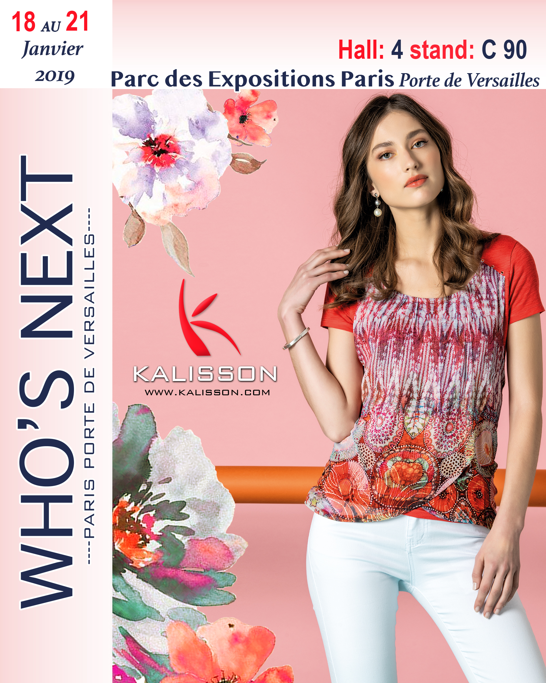 girl wearing a red t-shirt from portuguese brand Kalisson