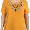 T-shirt round collar