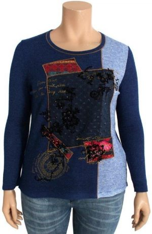 Bagoraz Patchwork blue sweater