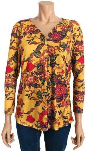 Kalisson t-shirt yellow Buttons