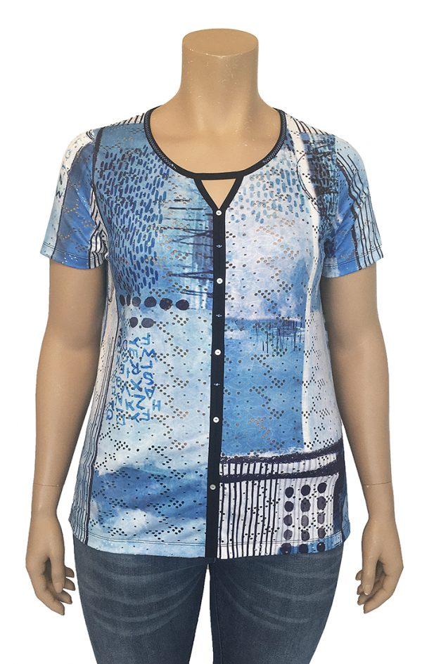 Bagoraz-Tops-Short-Sleeves-T-Shirt-Round-Neck-with-V